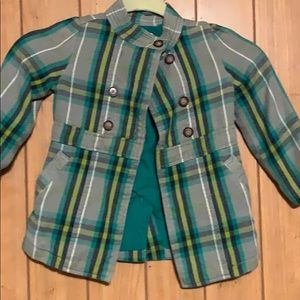Plaid pea coat old navy toddler girls 3t